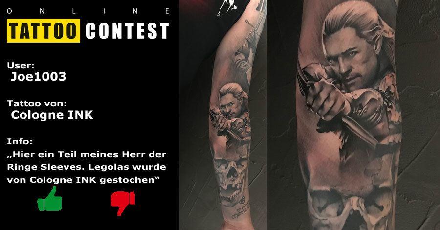 Herr der Ringe - Legolas Tattoo von Cologne Ink - Joe1003 ...
